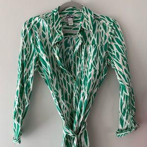 Diane Von Furstenberg Twig Print Dress